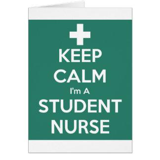 Keep Calm Student Nurse Card