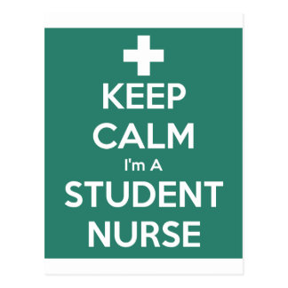 Keep Calm Student Nurse Postcard