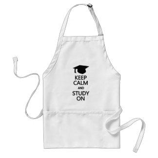 Keep Calm Study On apron choose style color