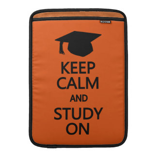 "Keep Calm & Study On custom 13"" MacBook sleeve"