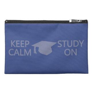 Keep Calm & Study On custom accessory bags