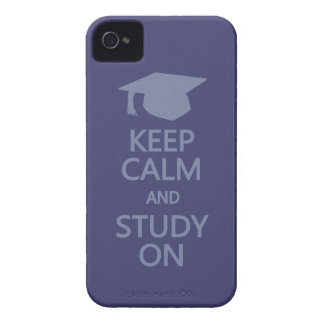 Keep Calm & Study On custom Blackberry case