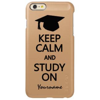 Keep Calm & Study On custom cases