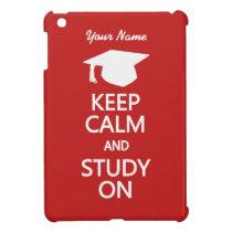 Keep Calm & Study On custom cases Case For The iPad Mini