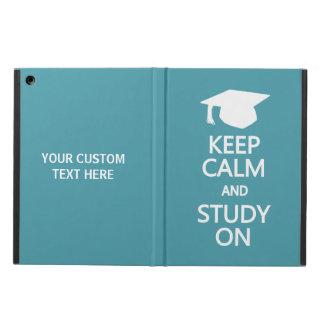 Keep Calm & Study On custom cases iPad Air Cases
