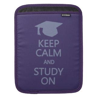 Keep Calm & Study On custom iPad sleeve