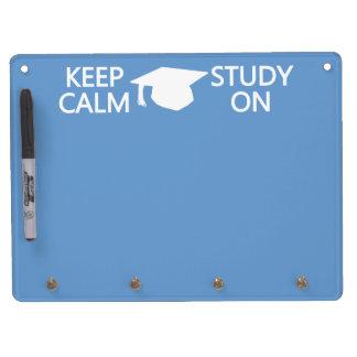 Keep Calm & Study On custom message board