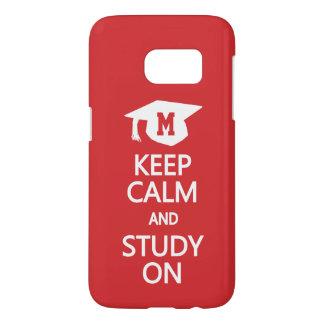 Keep Calm & Study On custom monogram cases