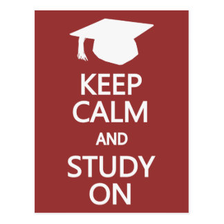 Keep Calm & Study On custom postcard