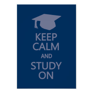 Keep Calm Study On custom poster