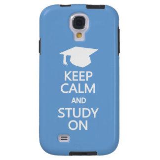 Keep Calm & Study On custom Samsung case