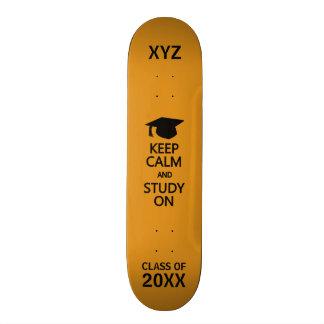 Keep Calm & Study On custom skateboards