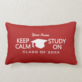 Keep Calm & Study On custom throw pillow