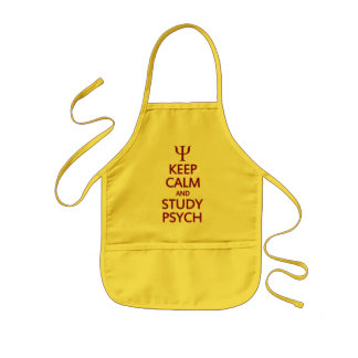 Keep Calm & Study Psych apron - choose style, colo