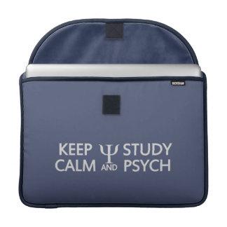 """Keep Calm & Study Psych custom 15"""" MacBook sleeve"""