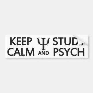 Keep Calm & Study Psych custom bumpersticker Car Bumper Sticker