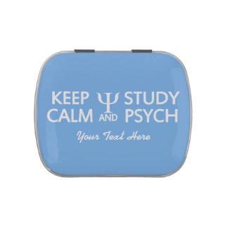 Keep Calm & Study Psych custom candy tins