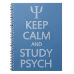 Keep Calm & Study Psych custom notebook