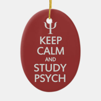 Keep Calm & Study Psych custom ornament