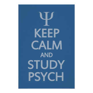 Keep Calm & Study Psych custom poster