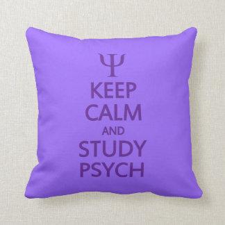 Keep Calm & Study Psych custom throw pillow