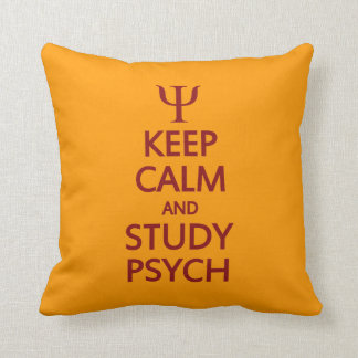 Keep Calm & Study Psych custom throw pillow