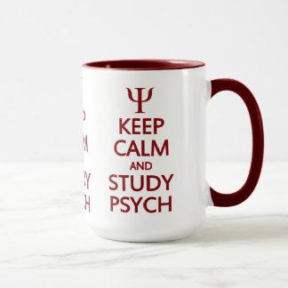 Keep Calm & Study Psych mug - choose style, color