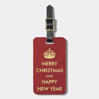 Keep Calm Style Christmas Greeting Red Kraft Paper Bag Tag