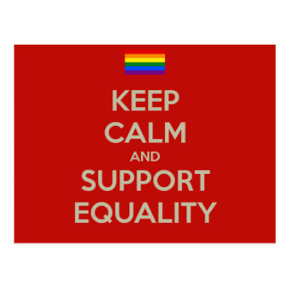 keep calm support equality postcard