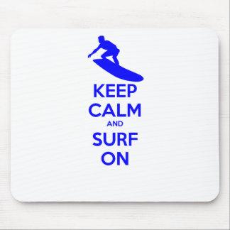 Keep Calm & Surf On Mouse Pad