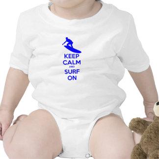 Keep Calm & Surf On Baby Creeper