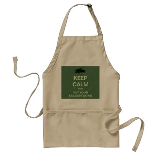 Keep Calm Tailgate Party BBQ Apron