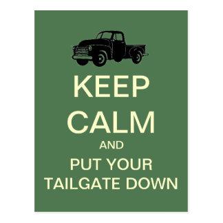 Keep Calm Tailgate Party Postcard Invitation