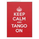 Keep Calm Tango Greeting Note Card