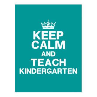 Keep Calm Teach Kindergarten Postcard