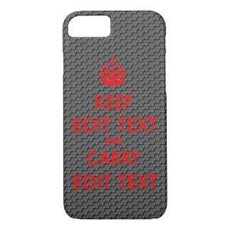 KEEP CALM TEMPLATE CUSTOMIZE CARBON FIBER POPULAR iPhone 8/7 CASE