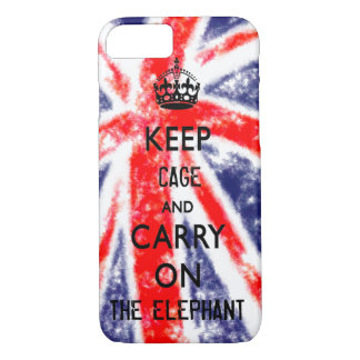 KEEP CALM TEMPLATE UNION JACK CHANGE TEXT POPULAR iPhone 8/7 CASE