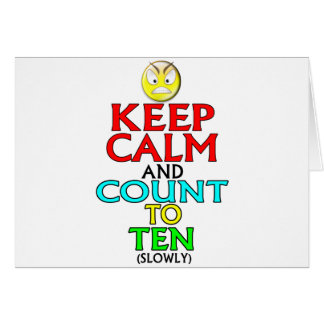 Keep Calm -- Ten Card