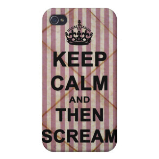 Keep Calm & Then Scream iPhone 4 Cover