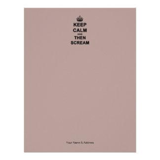 Keep Calm & Then Scream Letterhead