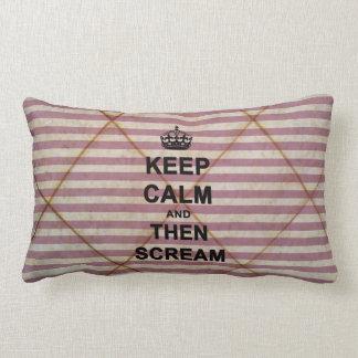 Keep Calm & Then Scream Lumbar Pillow