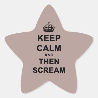 Keep Calm & Then Scream Star Stickers