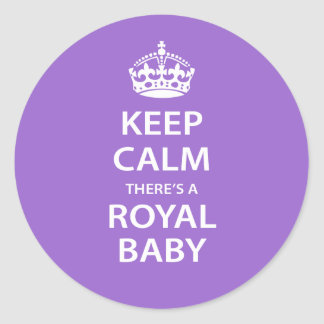 Keep Calm There's A Royal Baby Classic Round Sticker