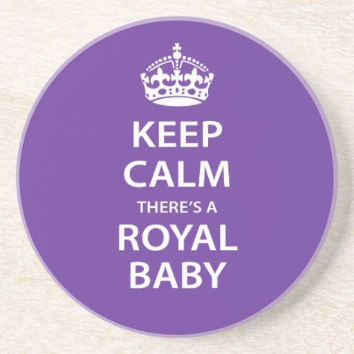 Keep Calm There's A Royal Baby Coasters