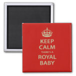 Keep Calm There's A Royal Baby 2 Inch Square Magnet