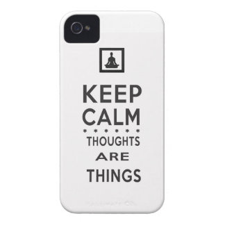Keep Calm - Thoughts Are Things iPhone Case