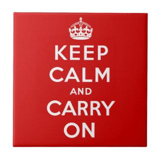 Keep Calm Tile