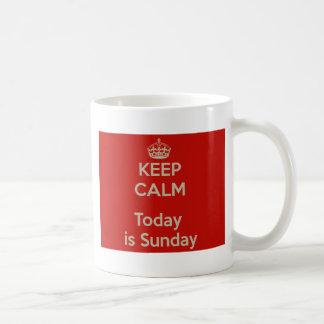 Keep calm today s Sunday - He stay cool, is Sunday Coffee Mug