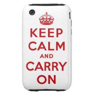 Keep Calm Tough iPhone 3G/3GS Case