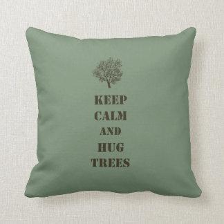 Keep Calm Trees Throw Pillow